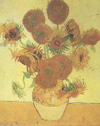 Vincent Van Gogh Still life:Vast with Fourteen Sunflowers (nn04) oil painting picture wholesale
