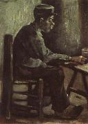Vincent Van Gogh Peasant Sitting at a Table (nn04) oil painting picture wholesale