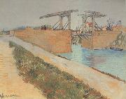 Vincent Van Gogh The Langlois Bridge at Arles with Road alonside the Canal (nn04) oil painting picture wholesale