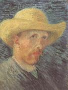 Vincent Van Gogh Self-Portrait wtih Straw Hat (nn04) oil painting picture wholesale