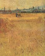 Vincent Van Gogh Arles:Vew from the Wheat Fields (nn04) oil painting picture wholesale