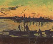 Vincent Van Gogh Coal Barges (nn04) oil painting picture wholesale