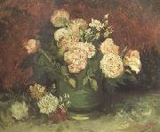 Vincent Van Gogh Bowl wtih Peonies and Roses (nn04) oil painting picture wholesale
