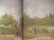 Vincent Van Gogh Couples in the Voyer d'Argenson Park at Asieres (nn04) oil painting picture wholesale