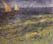 Vincent Van Gogh Seascape at Saintes-Maries (nn04) oil painting picture wholesale