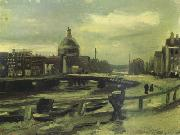 Vincent Van Gogh View of Amsterdam from Central Station (nn04) oil painting picture wholesale