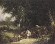 William Shayer Carging Timber in the New Forest (mk37) oil painting picture wholesale