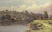 William henry mander A Stroll along the Riverbank (mk37) oil painting picture wholesale