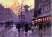 unknow artist Paris Street oil