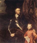 Anthony Van Dyck The Count of Arundel and his son Thomans oil painting picture wholesale