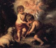 Bartolome Esteban Murillo Infant Christ Offering a Drink of Water to St.Fohn oil painting picture wholesale