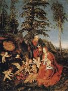 CRANACH, Lucas the Elder Rest on the Flight to Egypt oil painting picture wholesale