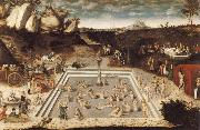 CRANACH, Lucas the Elder The Fountain of Youth oil painting picture wholesale