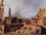 Canaletto Venice:Campo San Vital and Santa Maria della Carita oil painting picture wholesale