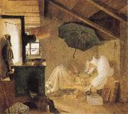 Carl Spitzweg The Poor Poet oil painting picture wholesale