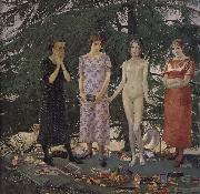 Felice Casorati Recreation by our Gallery oil painting artist
