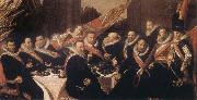 Frans Hals Banquet of the Office of the St George Civic Guard in Haarlem oil painting picture wholesale