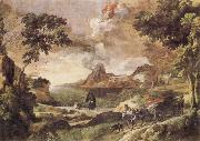Gaspard Dughet Landscape with St Augustine and the Mystery of the Trinity oil painting picture wholesale