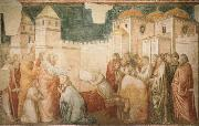 Giotto The Raising of Drusiana,Cappella Peruzzi oil painting picture wholesale