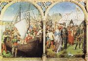 Hans Memling The Martyrdom of St Ursula's Companions and The Martyrdom of St Ursula oil painting picture wholesale