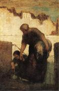 Honore Daumier The Washerwoman oil painting artist