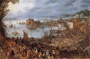 Jan Brueghel The Elder Great Fish-Market oil painting picture wholesale