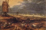 Jan Brueghel The Elder Landscape with Windmills oil painting picture wholesale