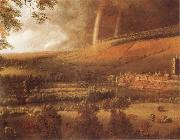 Jan Siberechts Landscape with Rainbow,Henley-on-Thames oil painting picture wholesale