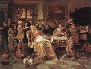 Jan Steen The Bean Feast oil painting picture wholesale