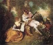 Jean-Antoine Watteau Scale of Love oil painting picture wholesale