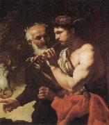 Johann Carl Loth Mercury piping to Argus oil painting artist