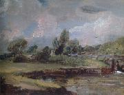 John Constable Flatford Lock 1810-12 oil painting picture wholesale