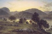 John glover Twilight,Ullswater mid 1820s oil painting picture wholesale