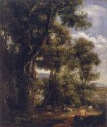 John Constable Landscape with goatherd and goats oil painting picture wholesale