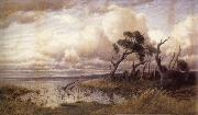 John Mather Wintry weather,Yarra Glen oil painting picture wholesale