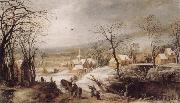 Joos de Momper Winter Landscape oil painting artist