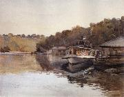 Julian Ashton Mosman Ferry 1888 oil painting picture wholesale