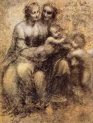 Leonardo  Da Vinci Virgin and Child with St Anne and St John the Baptist oil painting picture wholesale