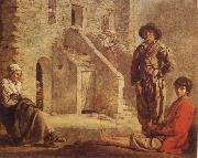 Louis Le Nain Peasants at their Cottage Door oil painting picture wholesale