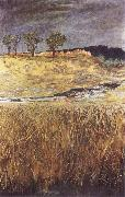 Max Klinger Landscape at the Unstrut oil painting artist