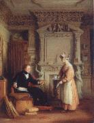 Mulready, William Interior with a portrait of Fohn Sheepshanks oil painting picture wholesale