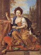 Pierre Mignard Girl Blowing Soap Bubbles oil painting artist