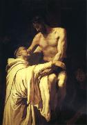 RIBALTA, Francisco Christ Embracing St.Bernard oil painting picture wholesale