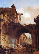 ROBERT, Hubert The Porta Octavia in Rome oil painting picture wholesale