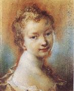 Rosalba carriera Portrait of a Young Girl oil painting artist