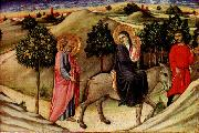 SANO di Pietro Flight to Egypt  predella panel oil painting artist