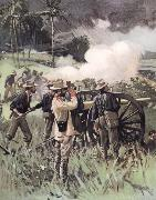 unknow artist Field Artillery in Action oil painting picture wholesale