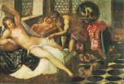 Tintoretto Vulcanus Takes Mars and Venus Unawares oil painting artist