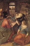 Tintoretto Christ with Mary and Martha oil painting artist