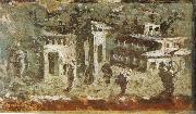 unknow artist Wall painting of houses at noon from Pompeii oil painting picture wholesale